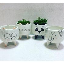 Cachepot Vaso Decorativo de Cerâmica Elefante Charmoso Adorno Enfeite para casa Vasinho para plantas e suculentas