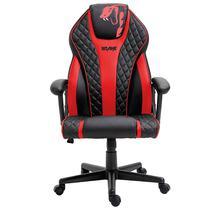 Cadeira Gamer Advanced Snake Naja reclinável giratória preta e vermelha 411