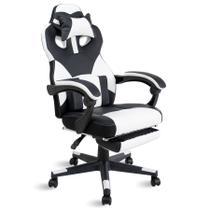 Cadeira gamer com apoio de pés Tanker Healer Branca