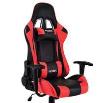 Cadeira Gamer MoobX GT RACER Preto e Vermelho
