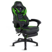Cadeira gamer reclinável com apoio de pés Alien Healer TM Preto/Verde