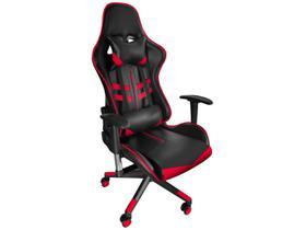 Cadeira Gamer Reclinável Preta e Vermelha