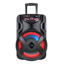 Caixa Amplificadora Amvox ACA-401 Tsunami, Entradas para Microfone, USB, Rádio FM, Bluetooth, Preto e 400W RMS Bateria