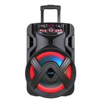 Caixa Amplificadora Amvox ACA-401 Tsunami, USB, Rádio FM, Bluetooth, Preto e 400W RMS Bateria