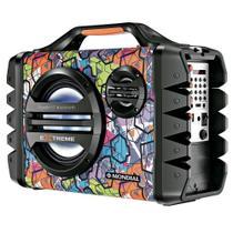 Caixa Amplificadora Mondial MCO-06 Thunder VI Extreme Bluetooth, Entradas USB e Micro SD, Bateria Recarregável 120W RMS