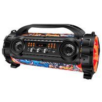 Caixa Amplificadora Mondial Mult Conect Thunder Street MCO-08 Bluetooth, Entradas USB, Auxiliar e SD, Rádio FM, 100W RMS
