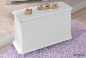 Caixa De Brinquedos C/ Rodízios Branco Completa Móveis
