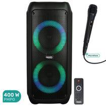 Caixa de Som Acústica Amplificada Moob 400W com Bluetooth TWS, Microfone, USB e Entrada de Guitarra