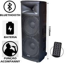 Caixa de som amplificada Boötes BDA-2515 Bluetooth, Entrada USB, Rádio FM, Com bateria interna - 700W MUS, 2x15POL,