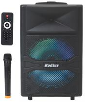 Caixa de som amplificada Boötes BTU-512-M, Bluetooth, Rádio FM, USB e Mic sem fio - 200W/MUS