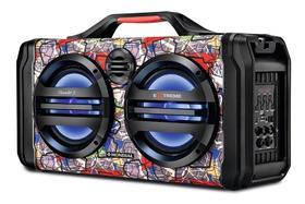 Caixa De Som Amplificador Bluetooth Portátil Mondial Extreme