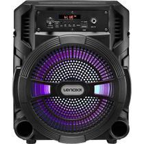 Caixa de Som Amplificadora Lenoxx CA80 Portatil 120w Bluetooth Controle Remoto Bivolt