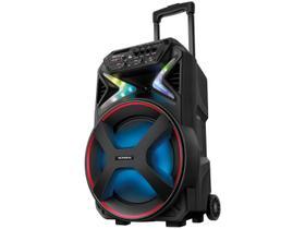 Caixa de som bluetooth, rádio, amplificadora portátil 400w