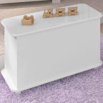 Caixa para Brinquedos Infantil Branca Lilies Móveis