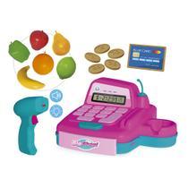 Caixa Registradora De Brinquedo Infantil C/ Acessórios E Som