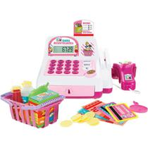 Caixa Registradora Infantil Creative Fun Rosa Multikids