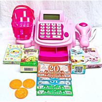 Caixa Registradora Infantil E Acessórios 15 peças + dinheirinho - Art Brink 3989