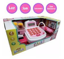 Caixa Registradora Infantil Luz Som Microfone Dm Toys 3815