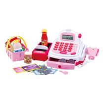 Caixa Registradora Infantil, Rosa, Grande, 29 Acessórios, Dm Toys, DMT3815