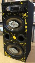 Caixa Residencial BOB 5x7 Ativa FM/USB/SD/AUX/BT /amarela vertical