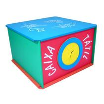 Caixa Tátil - Madeira - Multicolorido - Planeta Brinquedos