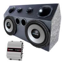 Caixa Trio Completa 2 Sub 12 Extreme Amplificador Taramps
