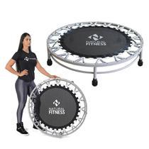 Cama Elástica Mini Jump Profissional Preto 150kg Academia Studio