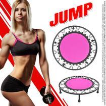 Cama Elastica Mini Jump Rosa Profissional Suporta 150 Kg