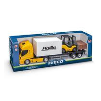 Caminhão Infantil Com Empilhadeira Iveco Hi-way