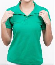Camisa Camiseta Pólo Feminina em Algodão Piquet