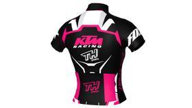 Camisa Ciclismo Ciclista Bike Roupas Uniforme Adulto Rosa