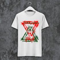 Camiseta X9 Paulistana - PN1000 verde e vermelha