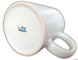 Caneca Branca Resinada Para Sublimação Live - Classe 3A - 36 Unidades