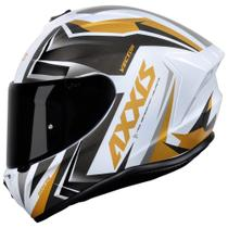 Capacete Axxis Draken Vector Gloss White/ Gold