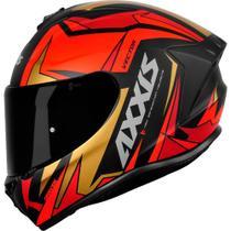 Capacete Axxis Draken Vector Matt Black/ Red/ Gold