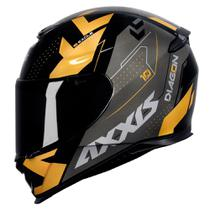 Capacete Axxis Eagle Diagon Gloss Black/ Gold