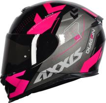 Capacete Axxis Eagle Diagon Gloss Black Pink