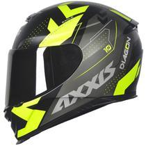 Capacete Axxis Eagle Diagon Preto Fosco/Amarelo