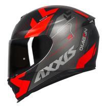Capacete Axxis Eagle Diagon preto fosco vermelho