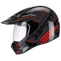 Capacete Bieffe 3 Sport Drax Estilo Cross Masculino Feminino Esportivo Moto
