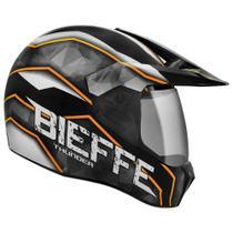 Capacete Bieffe Cross 3 Sport Thunder Preto/Laranja