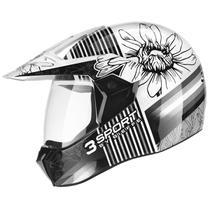 Capacete Bieffe Moto 3 Sport Flora Masculino e Feminino Lançamento