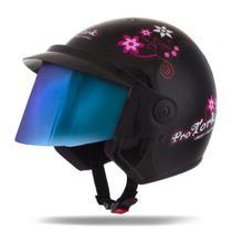 Capacete Moto Feminino Pro Tork Liberty 3 For Girls Viseira Camaleão