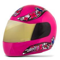 Capacete Moto Feminino Pro Tork Liberty 4 Girls Viseira Dourada