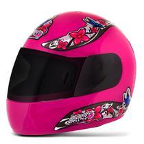 Capacete Moto Feminino Pro Tork Liberty 4 Girls Viseira Fumê
