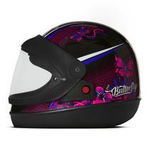 Capacete Moto Feminino Pro Tork Super Sport Moto Butterfly Brilhante