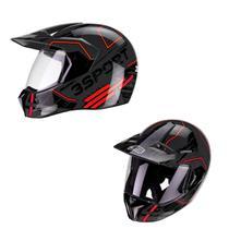 Capacete Motocross Bieffe 3 Sport Drax Masculino Pala Lançamento 2020