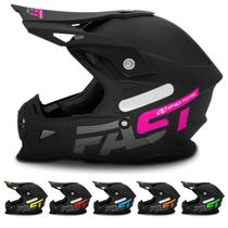 Capacete Motocross Fast Solid 788 Pro Tork Pala com Regulagem Várias Cores