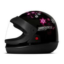 Capacete Sport Moto Feminino PT 60  Pro Tork
