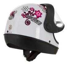 Capacete Street Sport Moto For Girls Feminino Rosa - Pro Tork